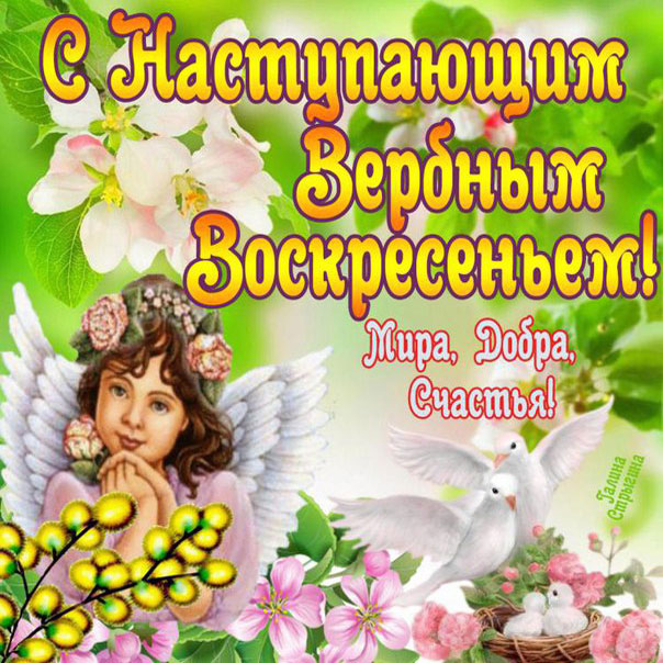 Девушке открытки Вербное воскресенье