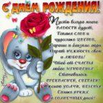Цветы открытка с Днем Рождения
